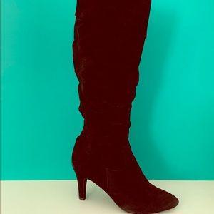 Black Suede Vaneli Boots